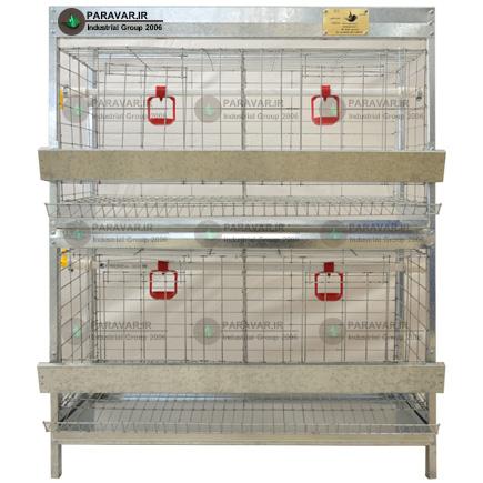 قفس 2 طبقه مرغ تخمگذار