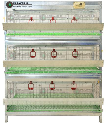 قفس 3 طبقه بلدرچین