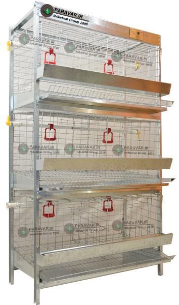 قفس 3 طبقه مرغ تخمگذار